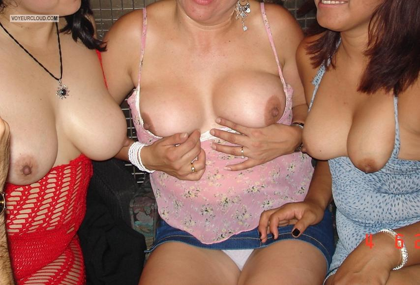 Tit Flash: My Friend's Medium Tits - Friends from Mexico